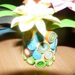 Quillingova vaza s kvetom